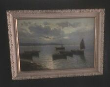 DeLuca  Italian, 19th Century, Fishermen On The Bay Of Naples At Dusk Capri