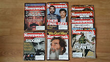 Lot of 8 Newsweek Magazines 2002 2003 Saddam Hussein Terror Iraq Historical
