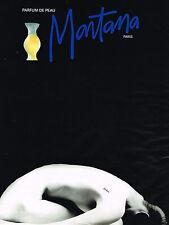 PUBLICITE ADVERTISING 025  1992  MONTANA  parfum de femme PEAU