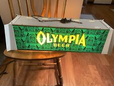 RARE Vintage OLYMPIA BEER POOL TABLE LIGHT SIGN Horse Shoe Good Luck