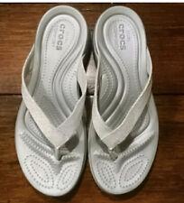 Crocs Ladies Dual Comfort Biege Sandals 8 Wide