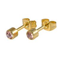 18ct chapado en oro circonita cúbica Gema de cristal pendientes varios colores (