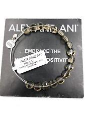Authentic Alex & Ani Smoke Luxe Shiny Silver BBEB111S NWT&MC