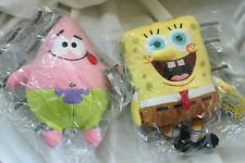 "LOT of 2 Spongebob Squarepants & Patrick F.U.N. Plush Doll Toy 10"""