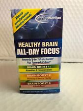 Applied Nutrition Healthy Brain All-Day Focus Tablets 50ct New In Box Exp 7/20+
