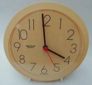 Westclox Vintage 80s Round Plastic Framed Wall Clock