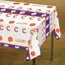 Clemson Tigers CU University Plastic Table Cover ACC NCAA 4.5 Ft X 9 FT New!