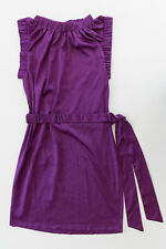 DIANE VON FURSTENBERG Purple Ruched Silk Dress US 6 AU 10 12 DVF