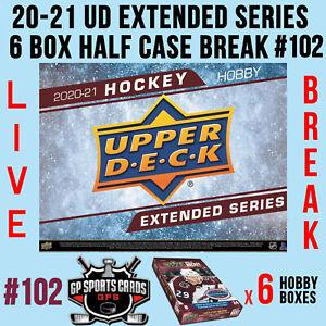 Buffalo Sabres - 20-21 UD EXTENDED SERIES HOCKEY 6 BOX HALF CASE BREAK #102