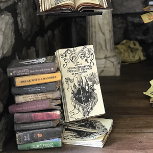 MARAUDERS MAP Dollhouse Miniatures 1:24 Scale Potter Magic Wizard Witch