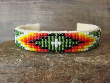 Native American Navajo Indian Hand Beaded Bracelet by Jacklyn Cleveland