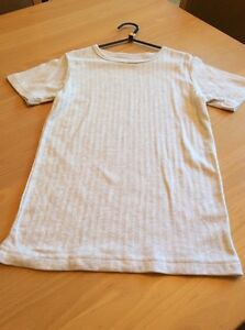 boys clothes 11-12 years Primark Grey Cotton Mix Ribbed Short Sleeved Vest Top