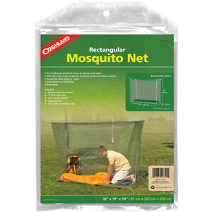 Coghlan's Rectangular Mosquito Net, Green, Mesh Netting Protects from Insects