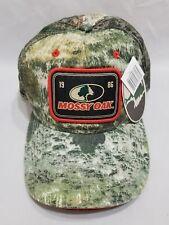 Mossy Oak 1986 Logo Patch Camo Camouflage Mesh Snap Back Baseball Cap New