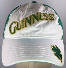 GUINNESS BEER ST. PADDY'S DAY Green Hat Adj Baseball Cap with 4 Leaf Clover VGC