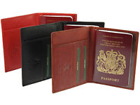 Visconti Genuine Leather Passport & Credit Card Holder Wallet Cover Case - 2201