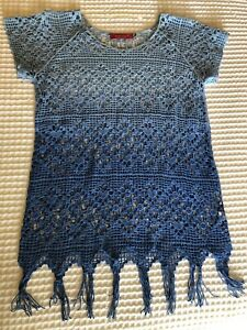 Seafolly Blue Lace See Through Top/Dress - S/M - Suit 6-10yrs BNWT
