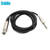 "3pin XLR Female to 1/4"" 6.35mm Mono Male Plug Audio Cable Microphone Adapter Kit"