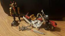 Vintage Biker Mice from Mars Figure Throttle  W. Bike/Helmet/Weapon GALOOB 1993