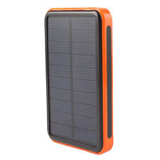 30000mAh Portable Solar Power Bank Waterproof Charger Dual USB External Battery