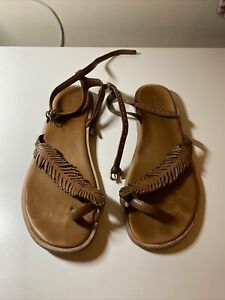 Coach Feather Brown Sandals 9.5