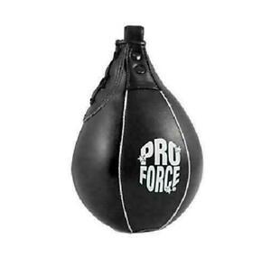 ProForce Leather Speed Bag Boxing Karate Punching Target Black
