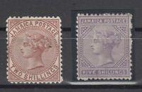 C2826/ BRITISH JAMAICA – VICTORIA - SG # 14 / 15 MINT MH – CV 320 $
