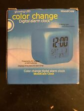 Glowing 7 Led Color Change Digital Alarm Thermometer Clock (New)