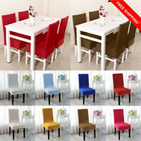Dining Room Wedding Banquet Party Chair Covers Washable Stretch Seat Decor Warm