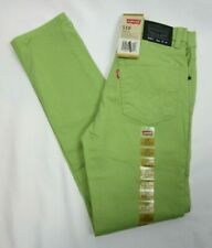 Levis 510 Skinny Jeans Boys 16 Regular 28 x 28 Slim Fit Cane Green NWT MSRP $48