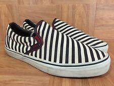 RARE🔥 VANS Vault LX Zebra Print Striped Classic Slip On Men's Sz 11 OTW Supreme