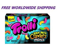 Trolli Sour Brite Crawlers Minis Gummy Candy 3.5 Oz FREE WORLDWIDE SHIPPING
