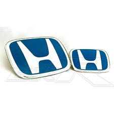 Honda Accord BLUE H front rear emblem badge  grill CL7 CL9 EURO 02-07