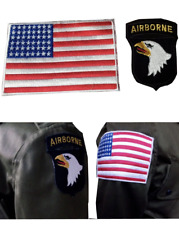 SET 2 PIECE AIRBORNE WITH USA FLAG ARM CLOTH BADGE/PATCHE