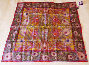 Liberty Hera pattern silk scarf 90cm square