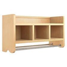 """Alaterre Abss00P0 25"""" Bath Storage Shelf W/Towel Rod Espresso New"""