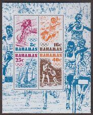BAHAMAS #391a Lightly Hinged Souvenir Sheet of 4 OLYMPICS 1976