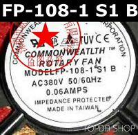 Commonwealth FP-108-1 S1 B Aluminum frame cooling fan AC380V 0.06A 120*120*38MM