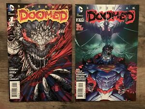 Superman Doomed 1 + 2 Lot DC Comics 2014 1st Prints