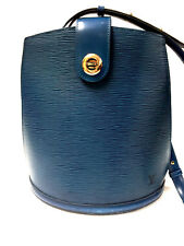"Vintage LOUIS VUITTON Toledo-Blue Epi Leather ""CLUNY"" Shoulder Bag"