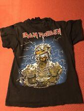 Vintage 1985 Iron Maiden Powerslave T shirt world tour concert tshirt