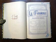 PARTITION BALLET La Farandole THÉODORE DUBOIS Éditions Au Ménestrel Heugel RELIÉ