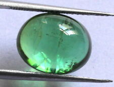 4.5 Carat Natural Brazil  Tourmaline Gemstone 11.3X9mm Oval Cabochon S708