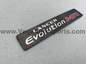 """""""Lancer Evolution MR"""" Center Console Emblem to Suit Lancer Evolution 8 / 9"""