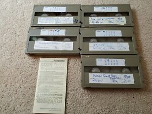Lot of 5 USED Panasonic MII VHS Professional Metal Video Tapes SOLD AS IS