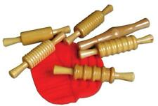 Lacquered Wooden Rollers, Set of 6