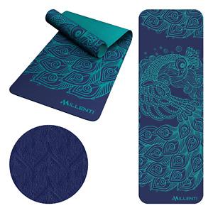 Millenti Premium-Print Yoga Mat 6mm Thick, Home Gym Exercise Mats