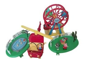 Peppa Pig Ferris Wheel Toy Helicopter Pound Seesaw Figures
