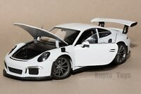 Porsche 911 GT3 RS White, Welly 24080, scale 1:24, model car gift present