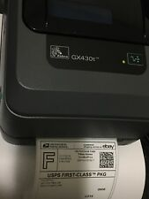 Zebra GX430t Direct Thermal Label/Barcode  USB-Ethernet-Serial, Like New. Tested